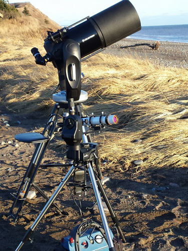 A beautiful telescope setup for public viewing by Chris Curwin of Astronomy by the Bay.