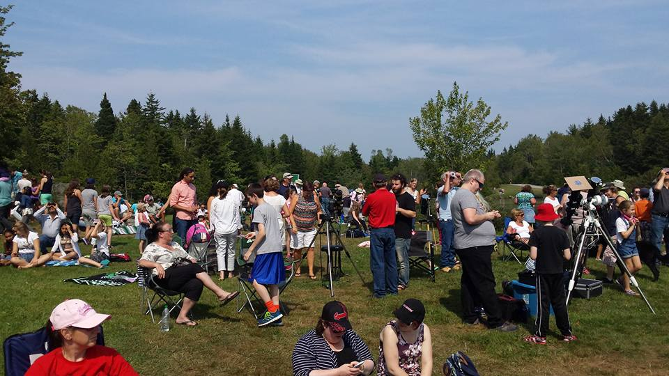 Partial Solar Eclipse Day at Rockwood Bark Park, Saint John, NB.