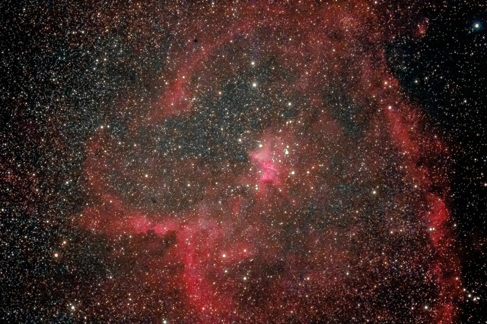 Photo of the Heart Nebula by astronomer Paul Owen