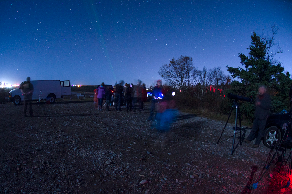 Scene at Irving Nature Park of Observe the Moon Night 2017