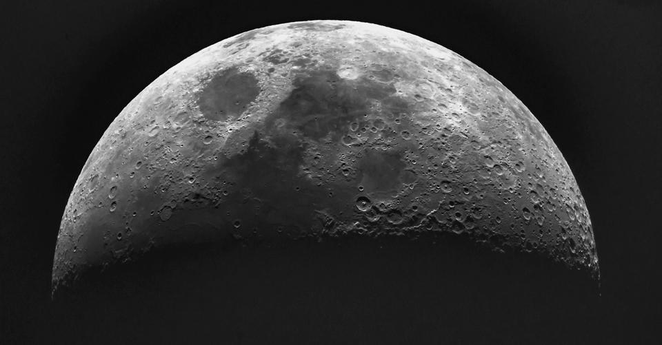 A photo of the Moon by Paul Owen of the Saint John Astronomy Club