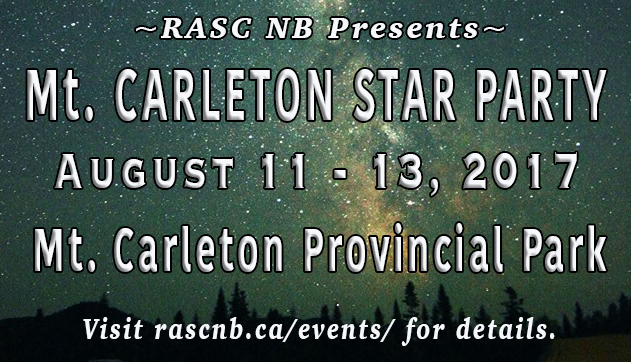 Photo listing the Mt. Carleton Star Party in Mt. Carleton Provincial Park.