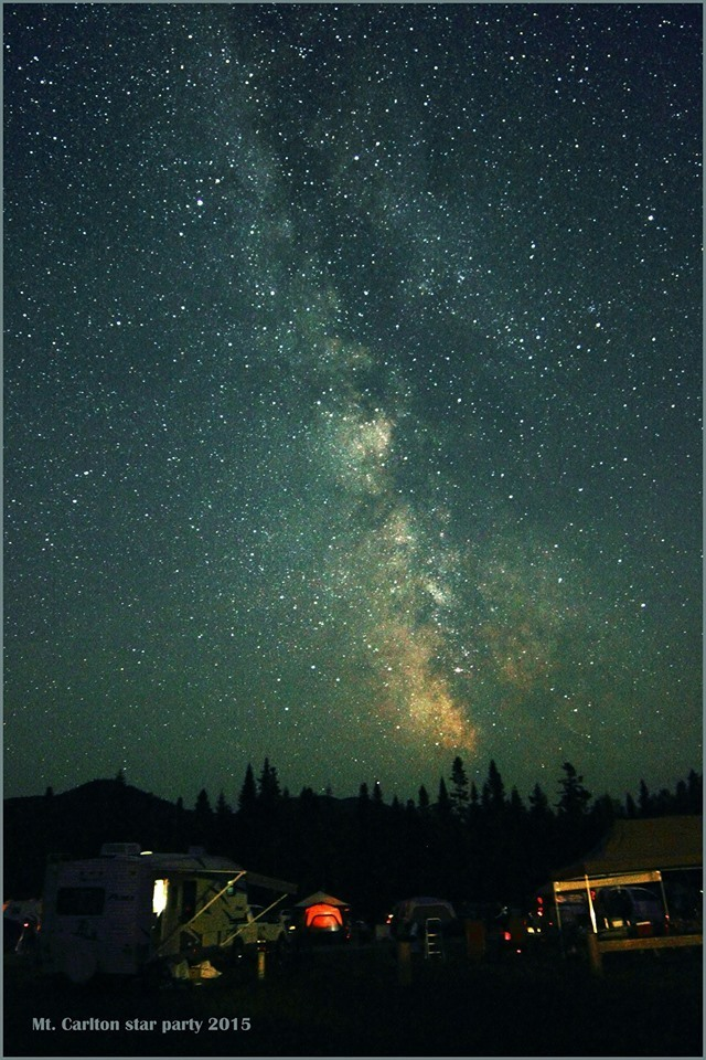 Photo by Paul Owen of the 2015 Mount Carleton Star Party