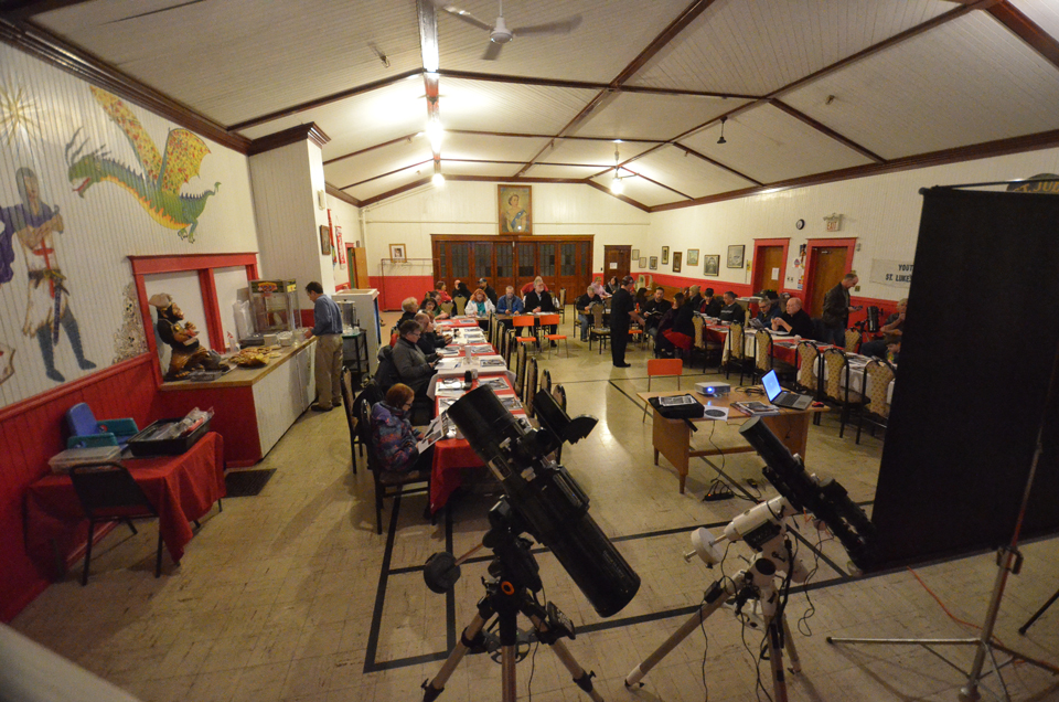 Photograph of the first workshop hosted by the Saint John Astronomy Club was well attended.