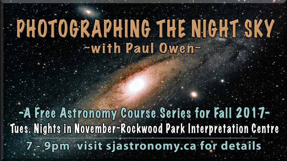 Header Photo for the free astronomy course Photographing the Night Sky with Paul Owen.