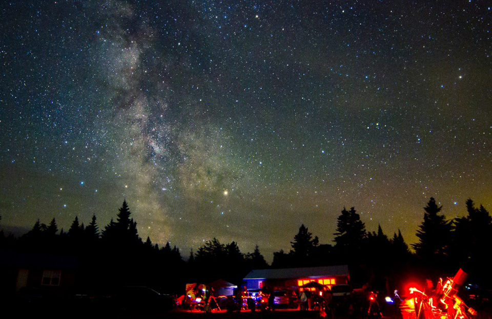 Photo of a star party at Fundy National Park by Paul Owen.
