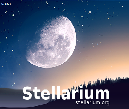 Photo image of the free software program and app Stellarium which assists in navigating and learning the night sky.