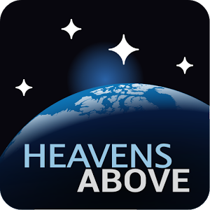 Logo of the Heavens Above website that provides information on astronomy and navigating the night sky.