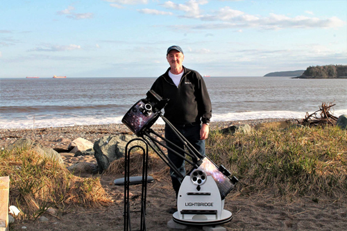 Chris Curwin setting up at Saints Rest Beach in Saint John.