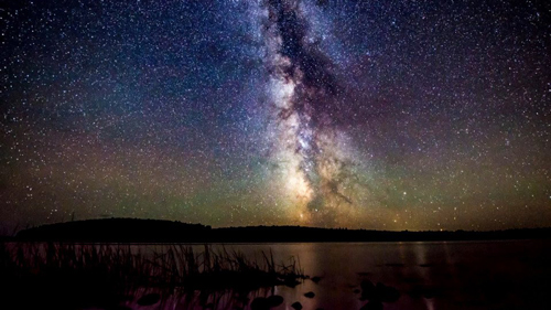 Photo from CBC presentation The Night Sky from a Land and Sea episode about three Dark Sky Sites and the Fundy Star Party 2016