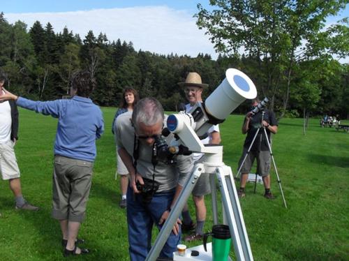 Solar observing at the Fundy Park StarGaze