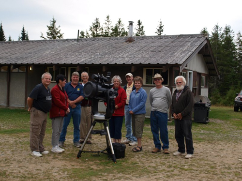 Some of the astronomers at a past Fundy Park StarGaze.
