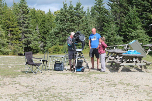 Talking to visitors at the 2016 Fundy Star Party