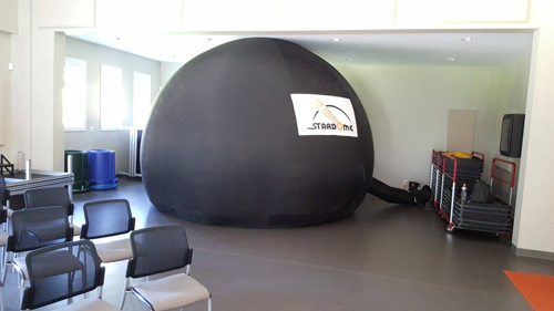 A portable planetarium set up at the 2016 Fundy Star Party