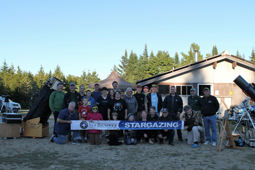 A photo of attendees at the 2016 Fundy Star Party at Fundy National Park
