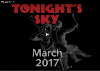 A video from Hubble about what to look for in the March 2017 sky.