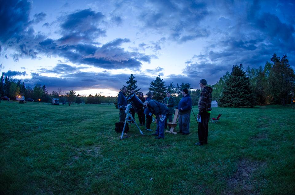 Photo of twilight at the Kouchibouguac Spring StarFest 2017.