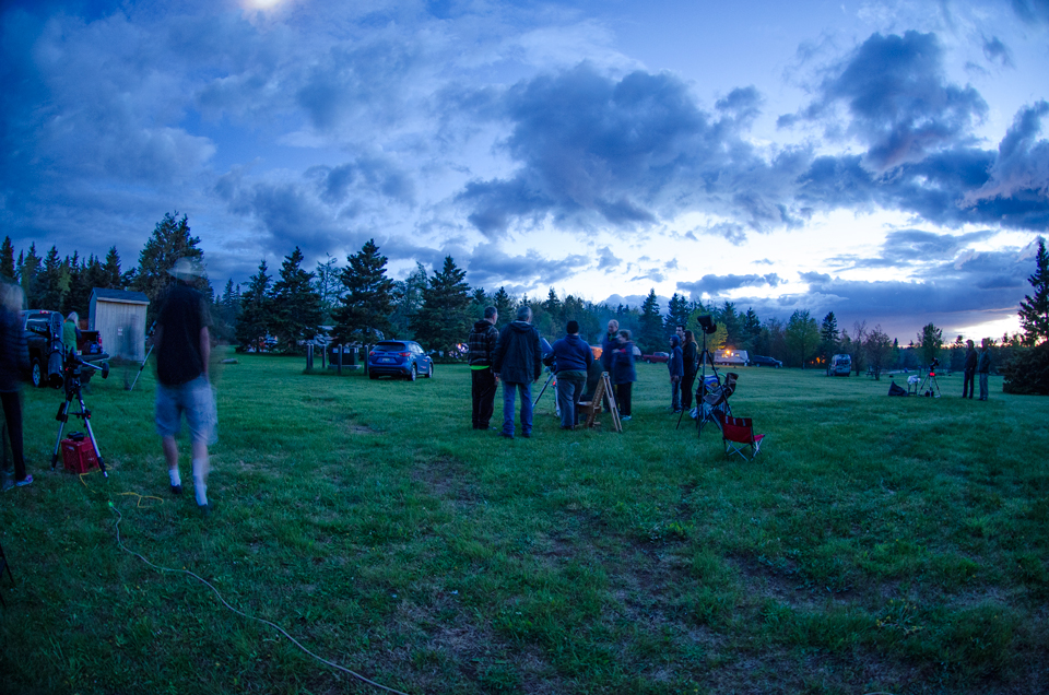 Twilight at the Kouchibouguac Spring StarFest 2017.
