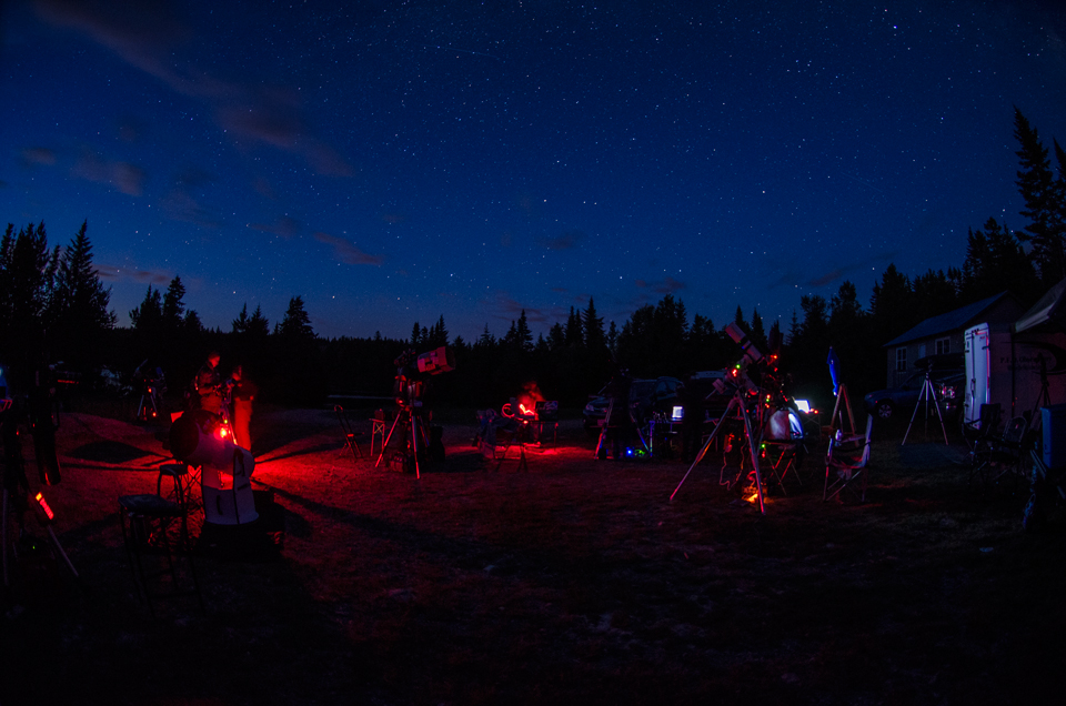 Photo of a star party scene in New Brunswick.