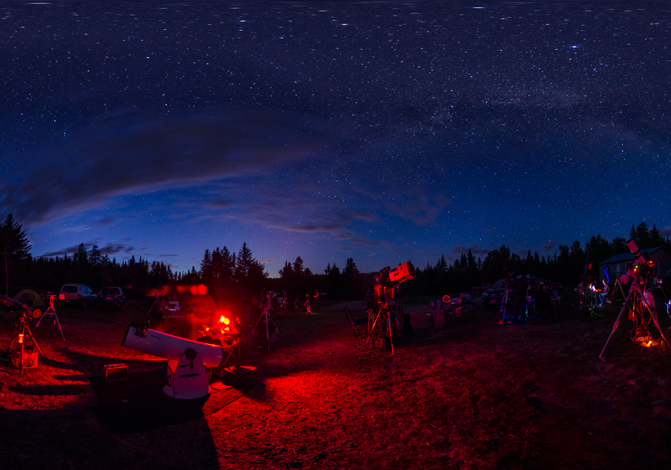 Photo of a Star Party at Fundy National Park.