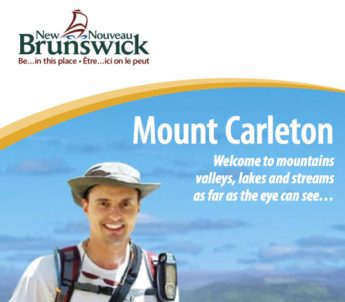 A picture of the Mount Carleton brochure