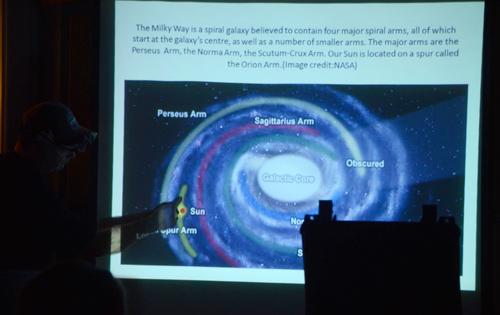 Paul Owen discussing our position in the Milky Way at the 4th Free Astronomy Workshop