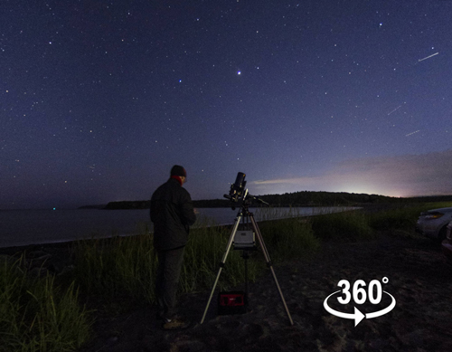 A 360° Panorama on a June evening at Saints Rest Beach in Saint John with Astronomy by the Bay