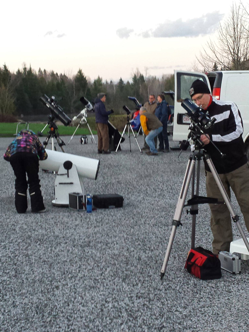 Setting up for the SJAC Astronomy Day in Rockwood Park