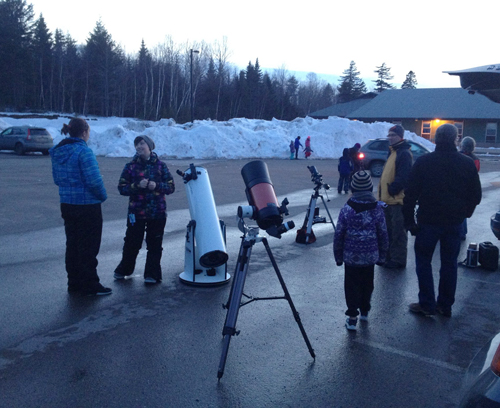 Outreach Spring 2017 event by the Saint John Astronomy Club and RASC.NB