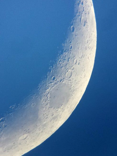 The Moon as captured by a phone adapter at an Outreach Event by the Saint John Astronomy Club and RASC.NB