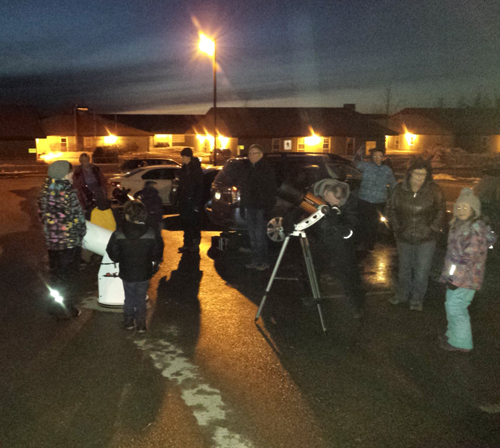Nighttime arrives at an Outreach Event by the Saint John Astronomy Club