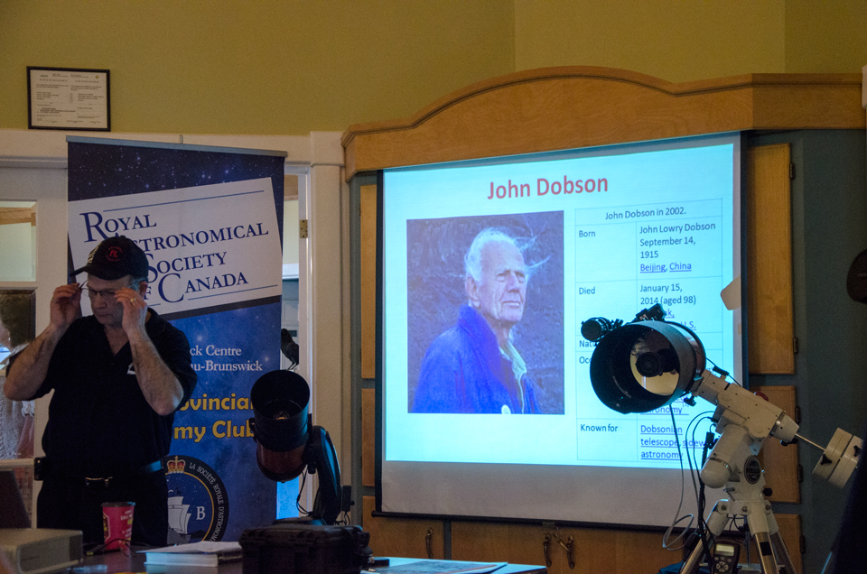 Paul Owen with a picture of John Dobson