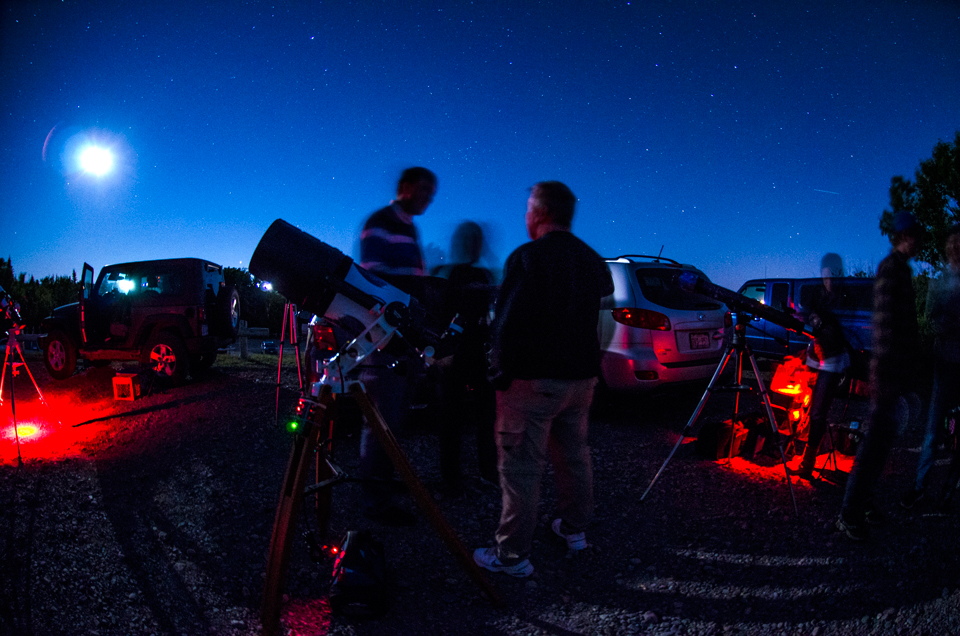 Looking up at the National Star Party at Irving Nature Park, July 30, 2017
