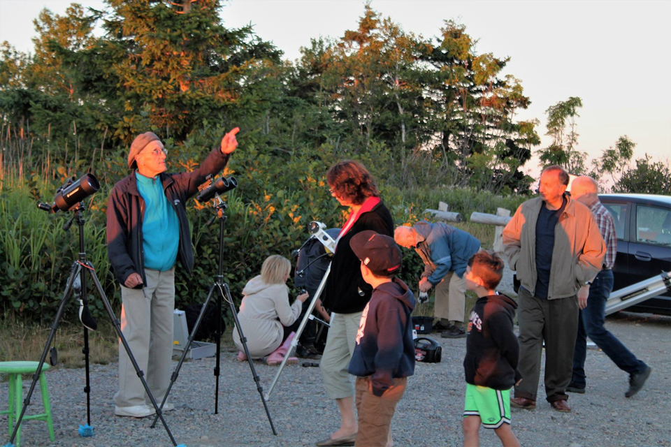 Photo at the National Star Party celebrated at Irving Nature Park, Saint John, NB.