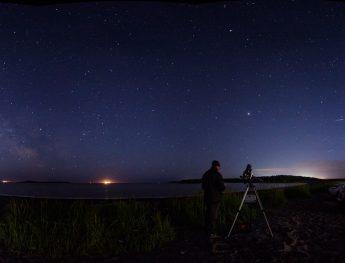 Astronomer Matt West at Saints Rest Beach in Saint John, NB