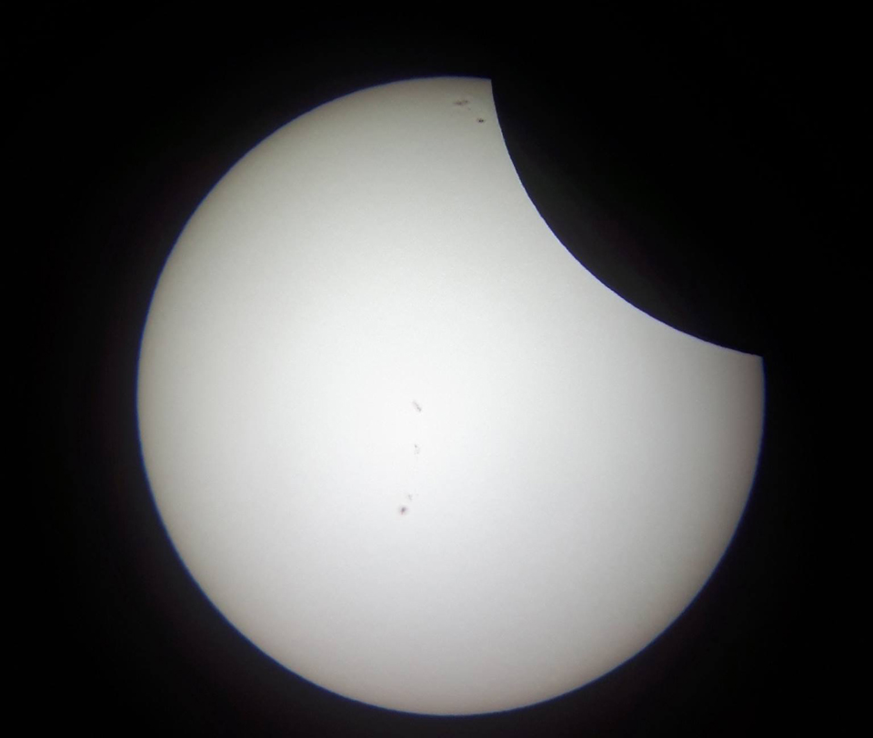 The Partial Solar Eclipse as photographed by David McCashion of the Saint John Astronomy Club