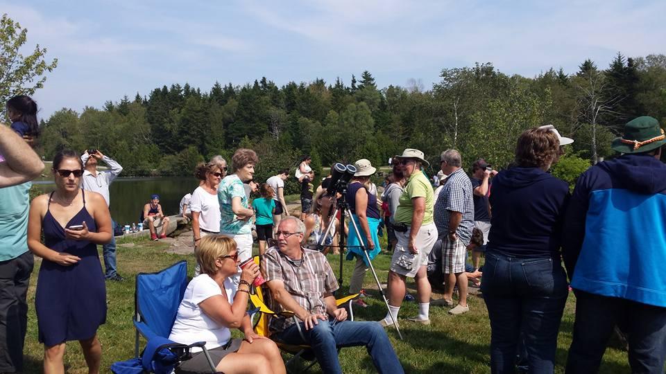 Partial Solar Eclipse Day at Rockwood Bark Park, Saint John, NB.