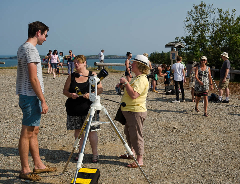 Partial Solar Eclipse Day On August 21, 2017 at Irving Nature Park, Saint John, NB.