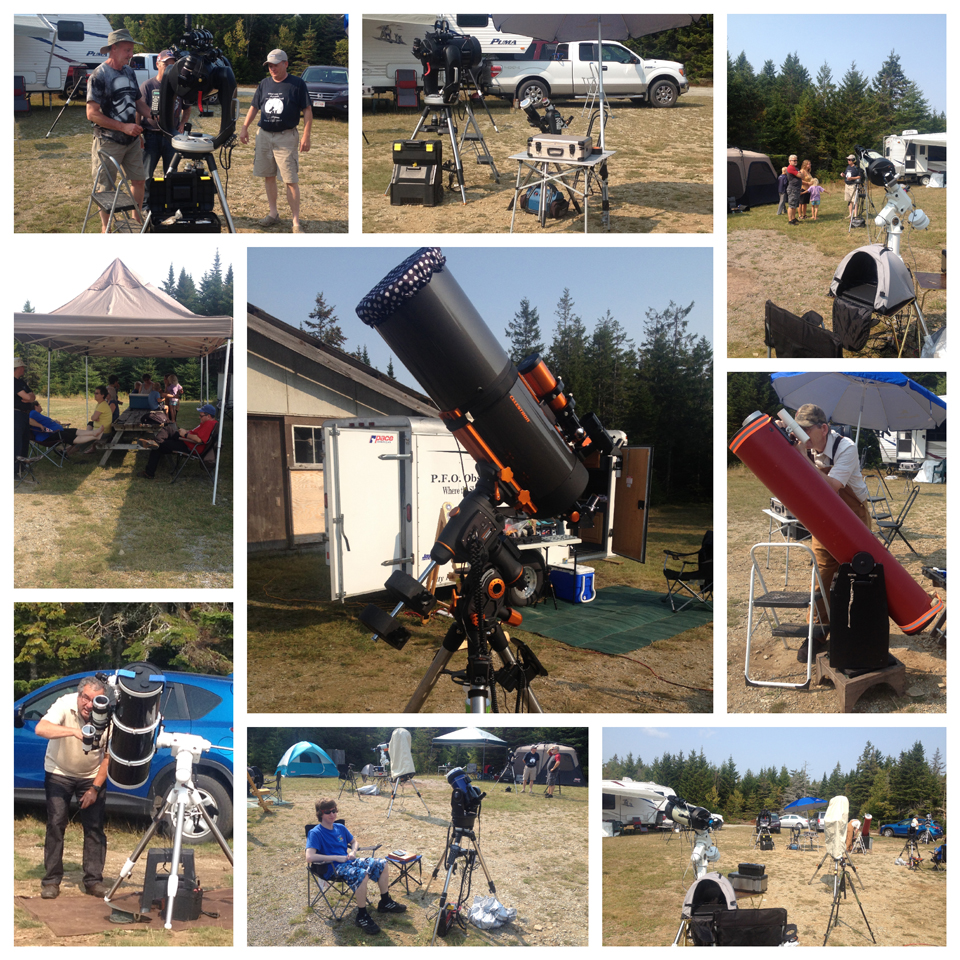 A photo collage of the Fundy Park StarGaze 2017