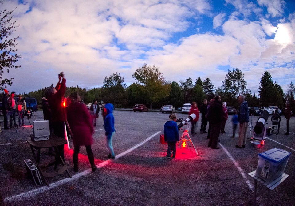 Photo of Fall Astronomy Day at Rockwood Park in September 2017.