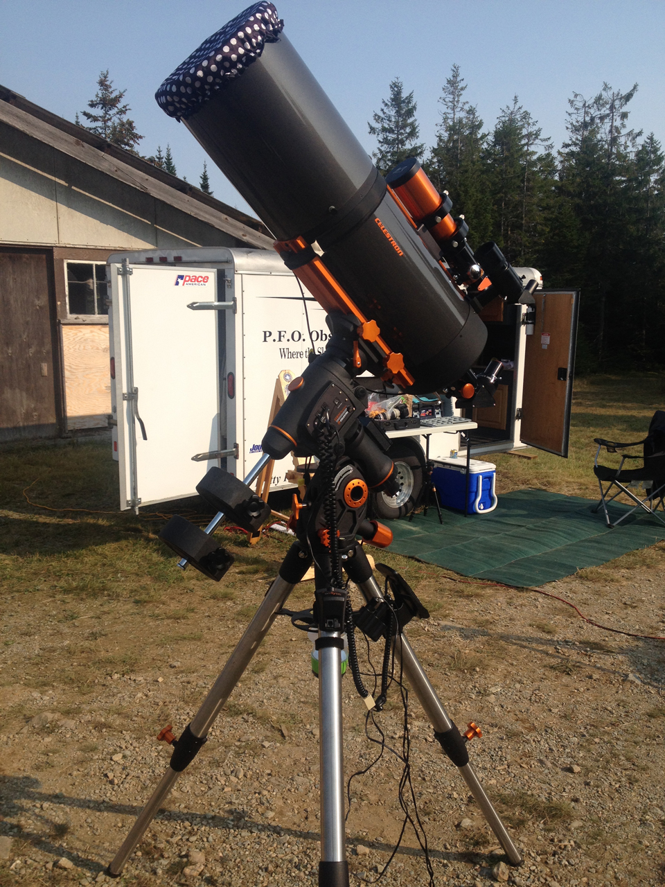Photo of telescope at the Fundy Park StarGaze 2017