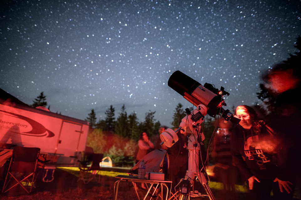 Photo of the Fundy StarGaze 2017 (from Fundy Park Facebook Page).