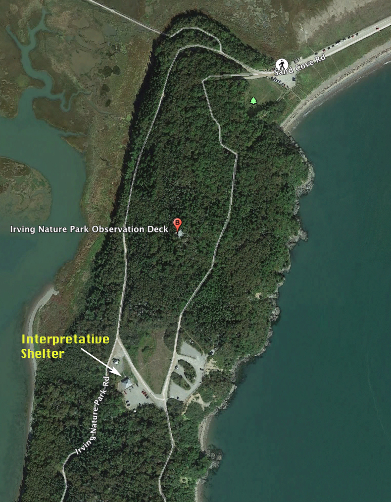 Photo showing location of Interpretative Shelter at Irving Nature Park