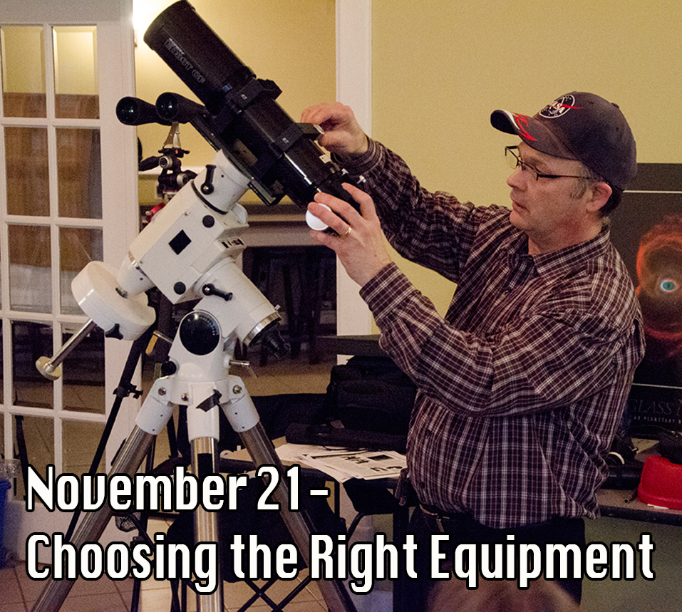 Paul Owen choosing the right astronomy equipment.
