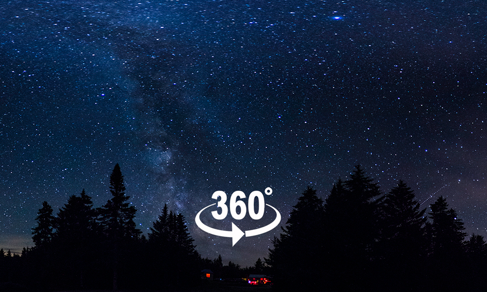 Link to a 360° pano of Livingston Lake at 1am, New Brunswick, next to Fundy National Park