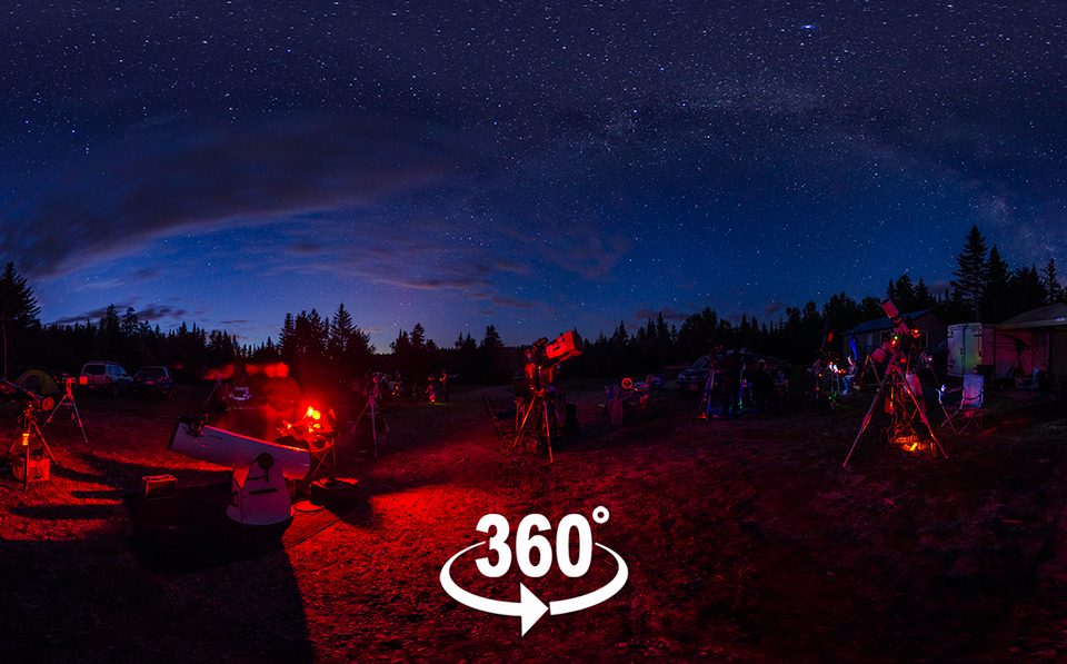 Link to a 360° Panorama of the Livingston Lake Star Party in twilight of August 2017