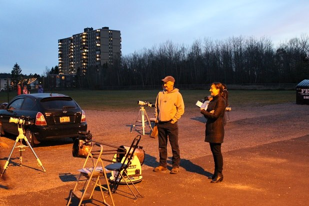 Photo of an astronomy Outreach Event at a local school with the Saint John Astronomy Club