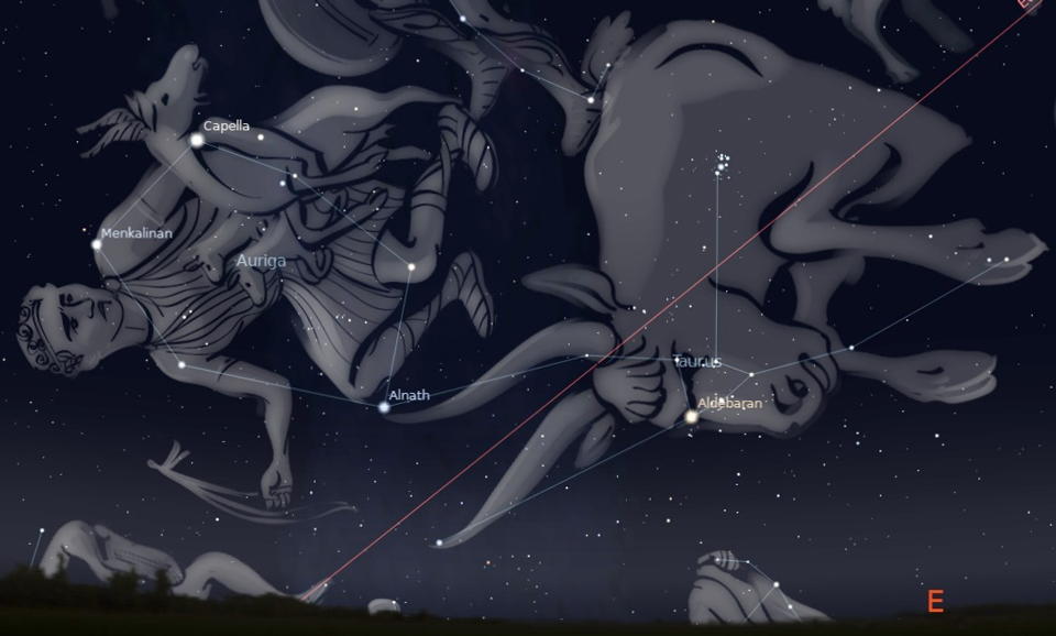 Photo showing the constellation Taurus
