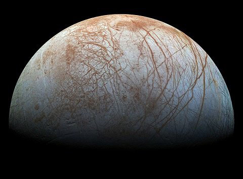 NASA image of Europa