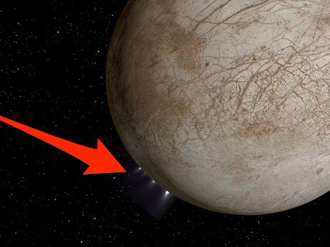 NASA image of Europa possibly venting water